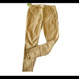 Michael Kors beige tan jeans with leg zippers sz 2